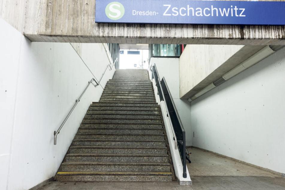 Am Dresdner S-Bahn-Haltepunkt Zschachwitz geschah die Tat am vergangenen  Freitagmorgen gegen 4.45 Uhr.