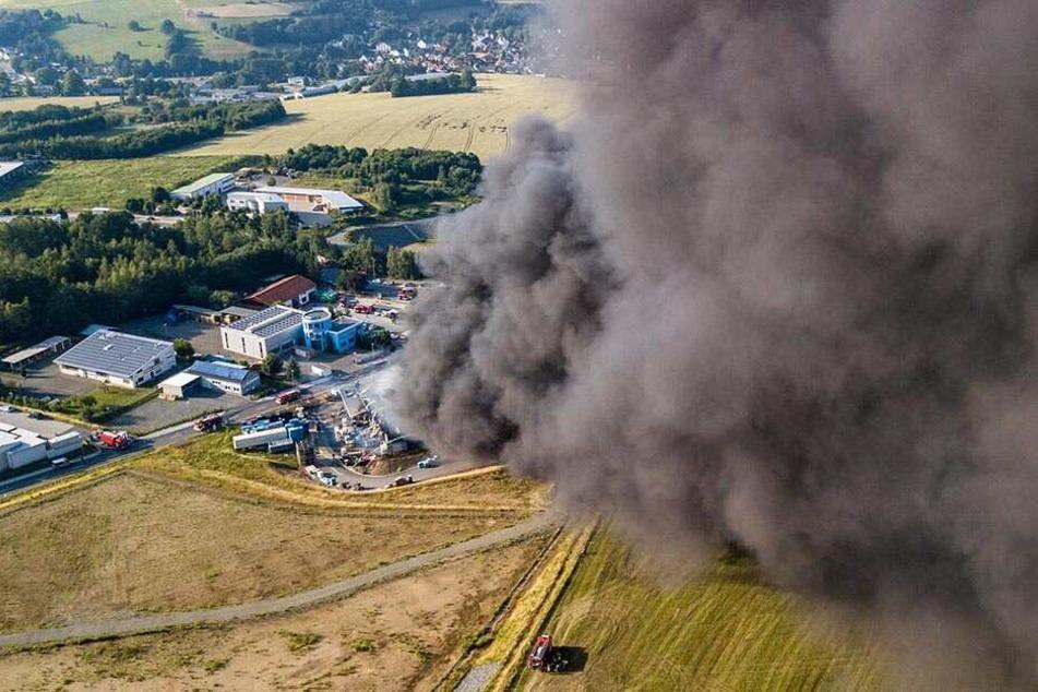 Der Brand in der Firma GTO löste eine große Suche nach Schadstoffen in der Region aus.