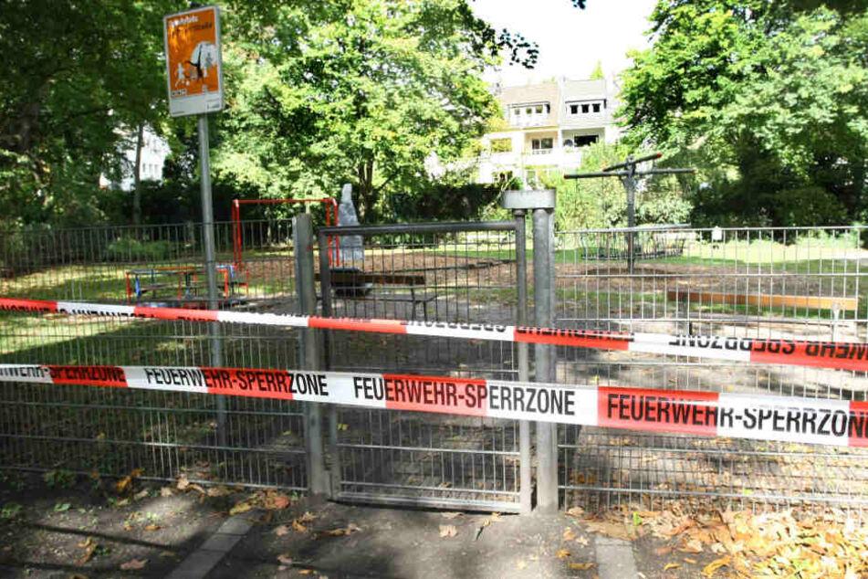 Einige Spielplätze in Aachen waren wegen der Chemie-Attacken gesperrt.