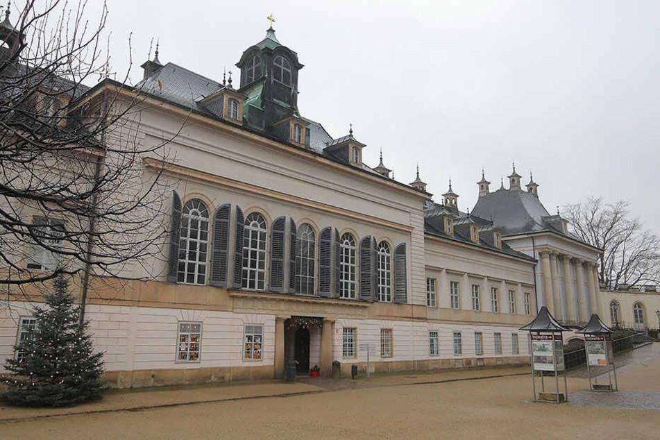Im Schloss Pillnitz trieben sich Ganoven herum.