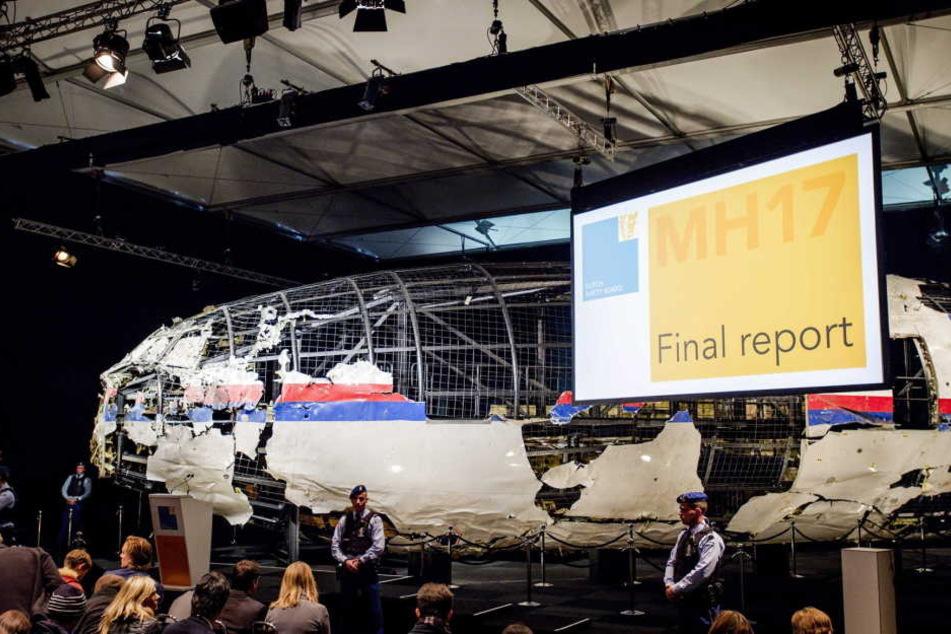 Die gefundenen Wrackteile von Flug MH17.