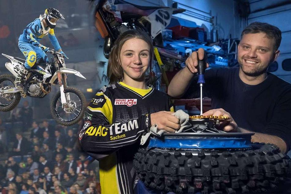 ADAC-Supercross: Hier fliegen Kinder mit ihren Maschinen davon