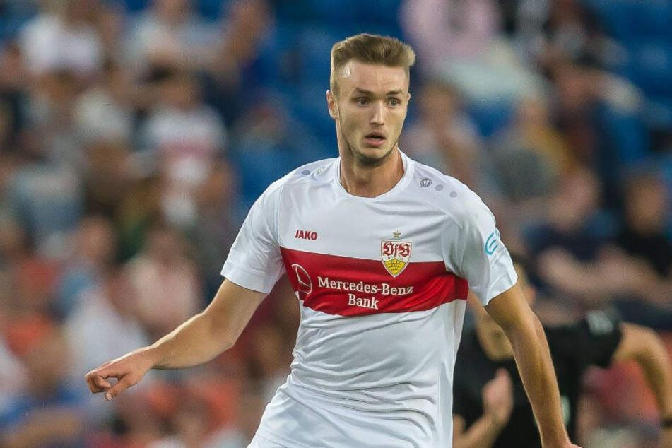 VfB-Spieler Sasa Kalajdzic verdrehte sich beim Test gegen den SC Freiburg das Knie. (Symbolbild)