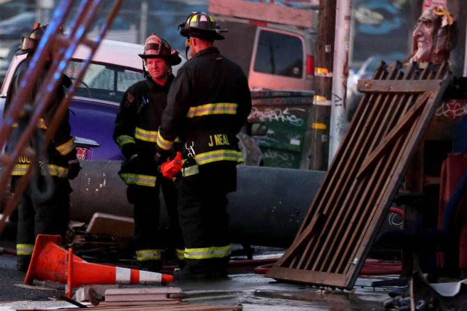 70 Feuerwehrmänner versuchten über Stunden, das Feuer zu löschen.