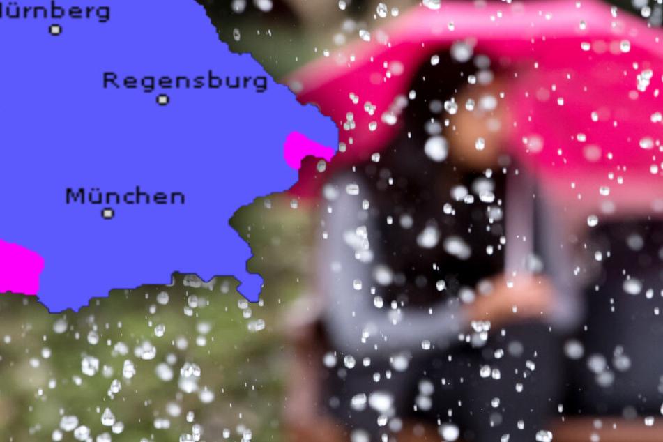 Wind und viel Regen: So wird das Wetter in Bayern am Wochenende