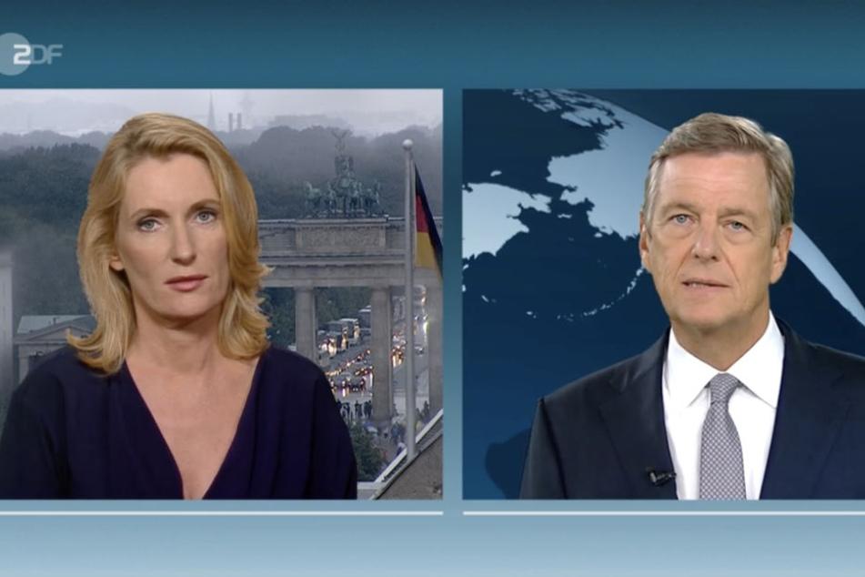 Verdient oder nicht verdient? Claus Kleber mit seiner Interviewpartnerin Maria Furtwängler.