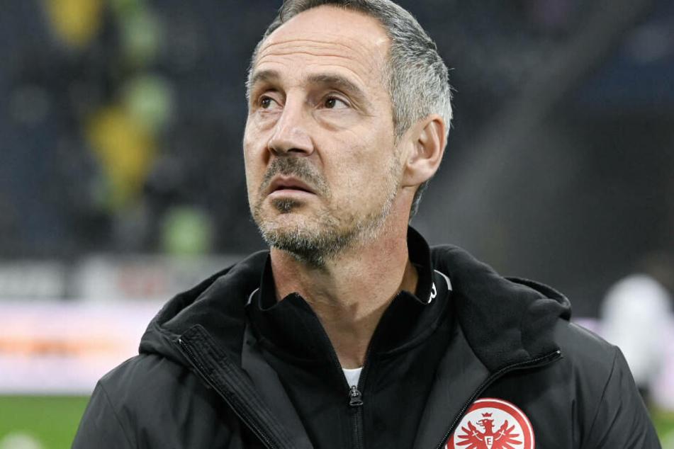 Eintracht-Coach Adi Hütter sah kein gutes Spiel seines Teams.