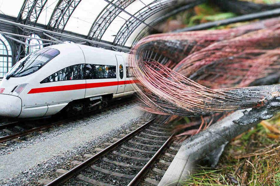 Massive Behinderungen Staatsschutz prüft Brandanschlag auf Deutsche Bahn