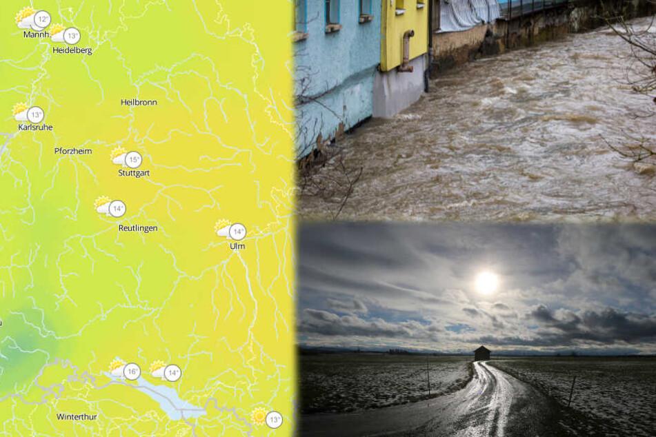 Das Tauwetter bekommt vor allem der Schwarzwald und der Odenwald zu spüren. (Fotomontage)