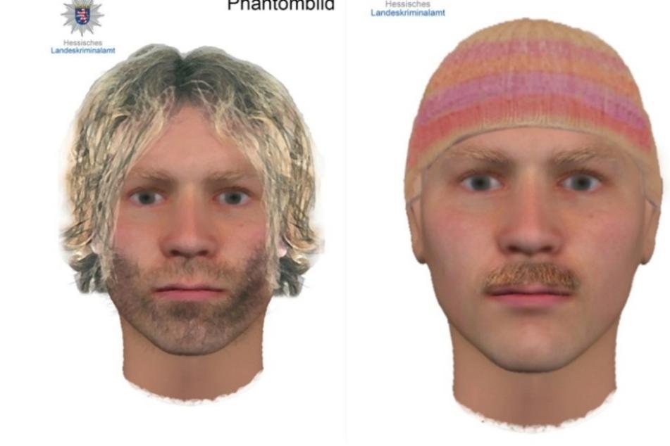 Mit diesen Phantombildern fahndet das LKA Hessen nach dem Täter.