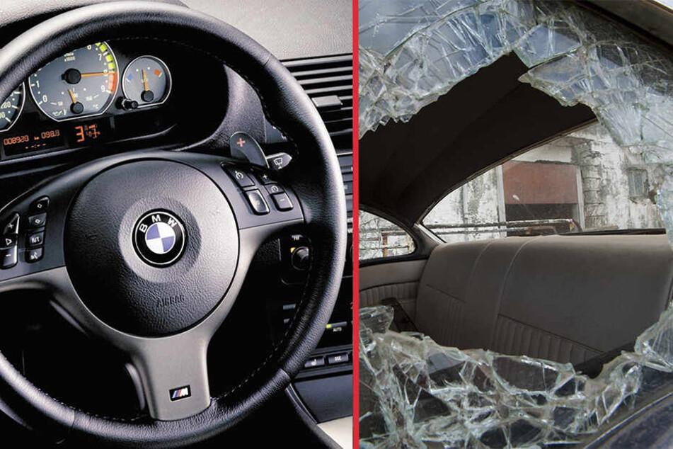 Neben einem fehlenden Lenkrad musste sich ein BMW-Fahrer auch über eine eingeschlagene Scheibe ärgern.