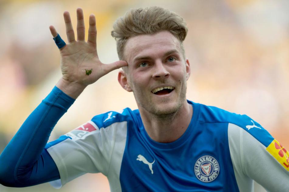 Marvin Ducksch war in der vergangenen Saison an Kiel ausgeliehen und wird wohl in der nächsten Saison für Fortuna Düsseldorf auflaufen.