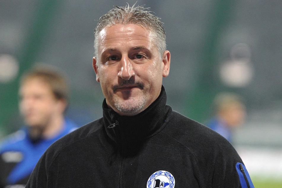 Arminias Trainer Jürgen Kramny erinnert sich noch gern an das Pokalspiel im Oktober gegen Dynamo.