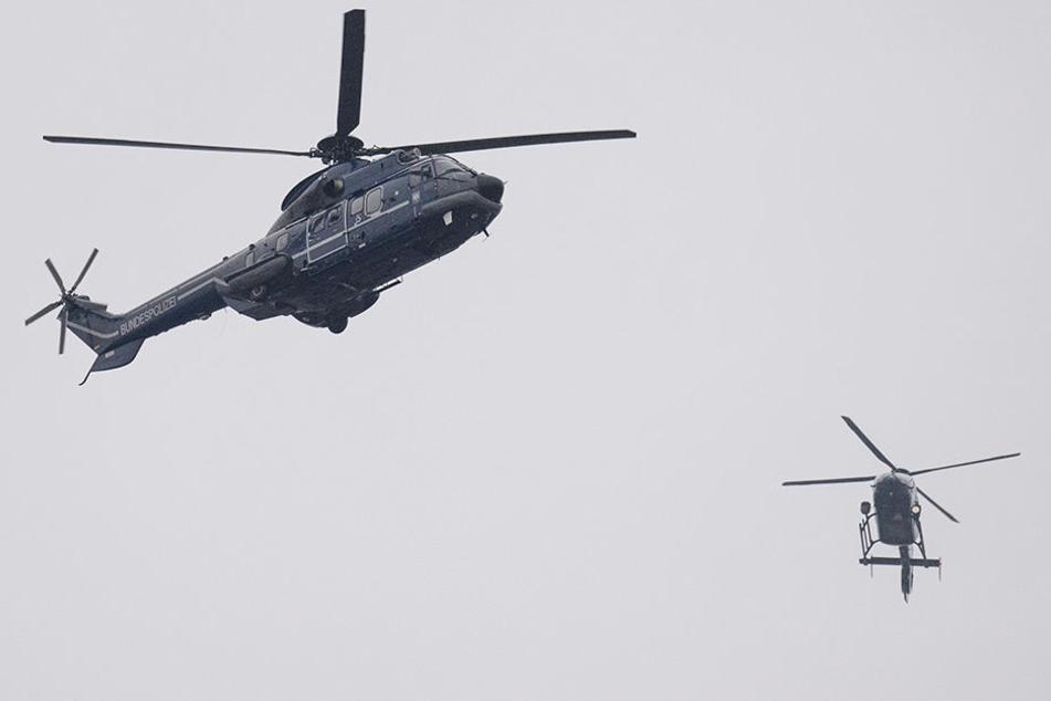 Die Beamten hatten am Samstag aus der Luft nach einem vermissten Rentner gesucht. (Symbolbild)
