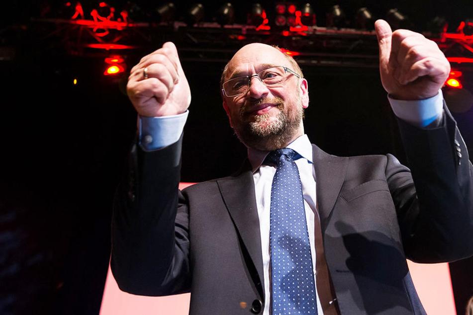 Martin Schulz drückt der SPD in NRW die Daumen.