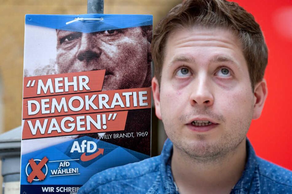 Wegen Brandt-Wahlplakaten: Kühnert wirft AfD Verdrehung der deutschen Geschichte vor