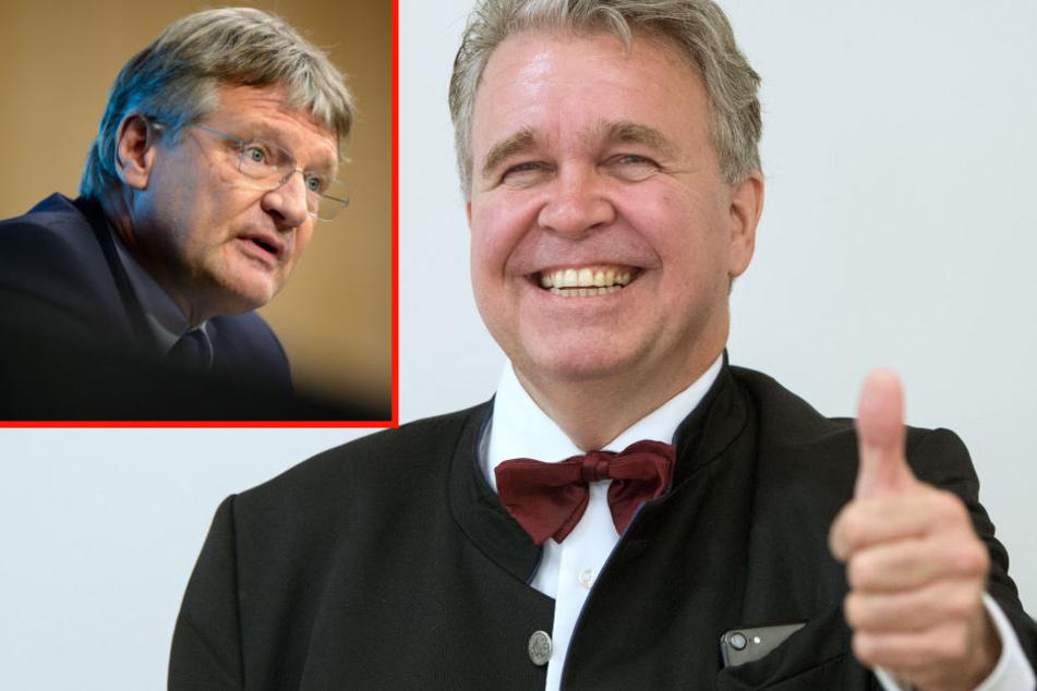 Jörg Meuthen (links) prognostiziert für Heinrich Fiechtner genau eine Stimme: seine eigene.