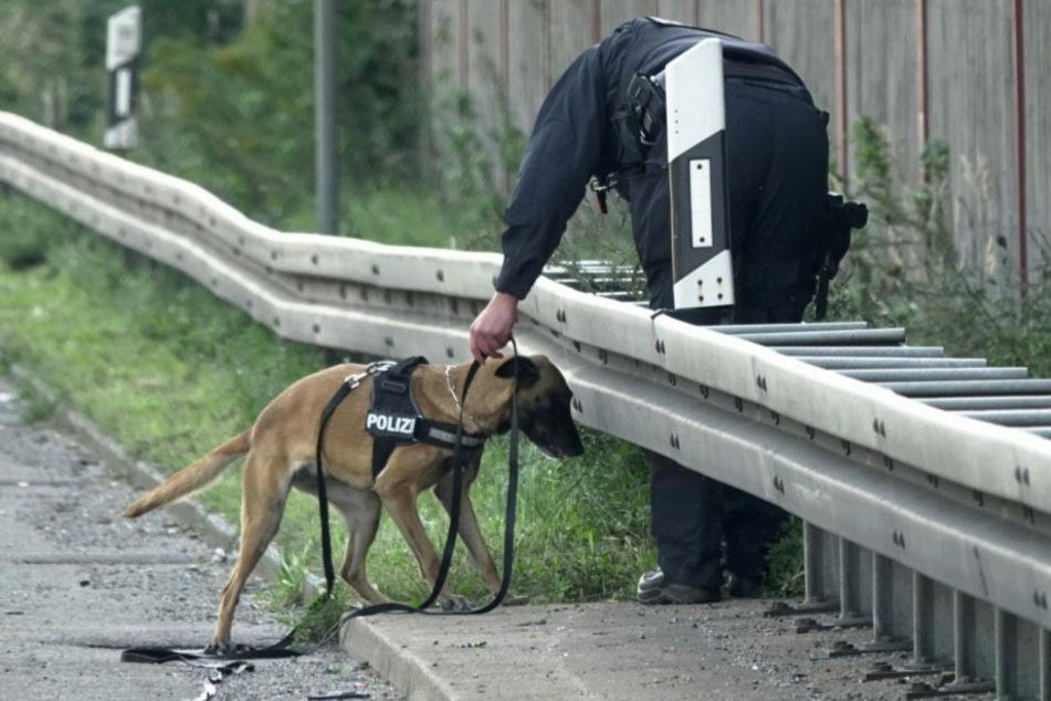 Die Polizei suchte mit Spürhunden nach den Geflüchteten, auch ein Hubschrauber war im Einsatz.
