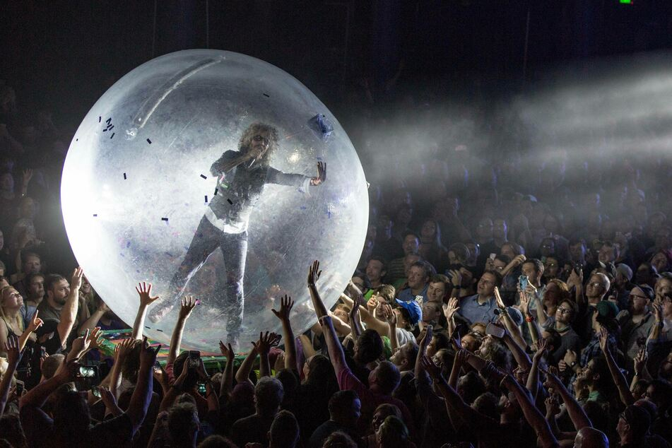 Before the pandemic Wayne Coyne (60) used to crowd-surf in a space bubble.