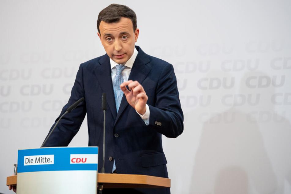 Paul Ziemiak bekräftigte noch einmal, dass die CDU keine Koalition mit AfD oder Linken eingehen werde.