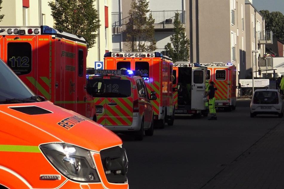 Großalarm: Feuer in Pflegeheim, acht Menschen im Krankenhaus
