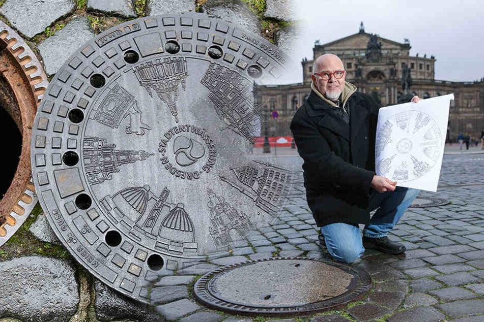Dresdens Gullys werden zu Kunstobjekten
