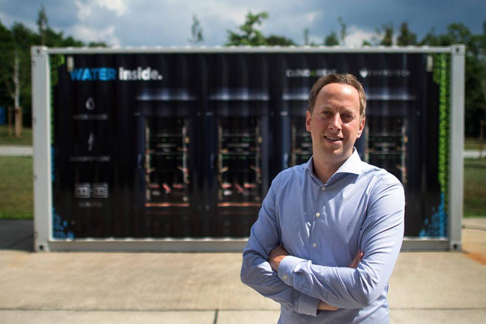 Stolz auf seine Server-Heizungen: Cloud&Heat-Chef Nicolas Röhrs.