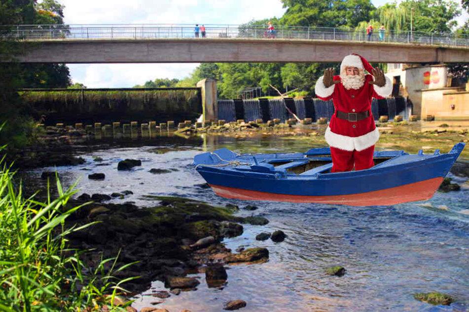 So ähnlich könnte es aussehen, wenn der Nikolaus am 6. Dezember über die Werre nach Herford kommt.