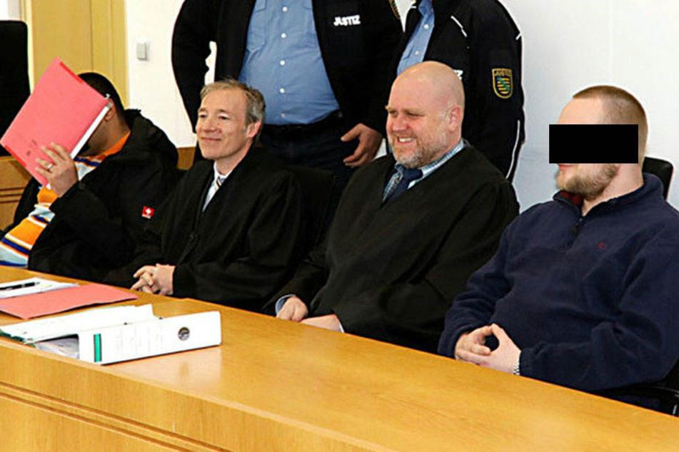 Das Landgericht Chemnitz verurteilte am Donnerstag Sven S. (32, l.) und Frank S. (29, r.) zu Haftstrafen.