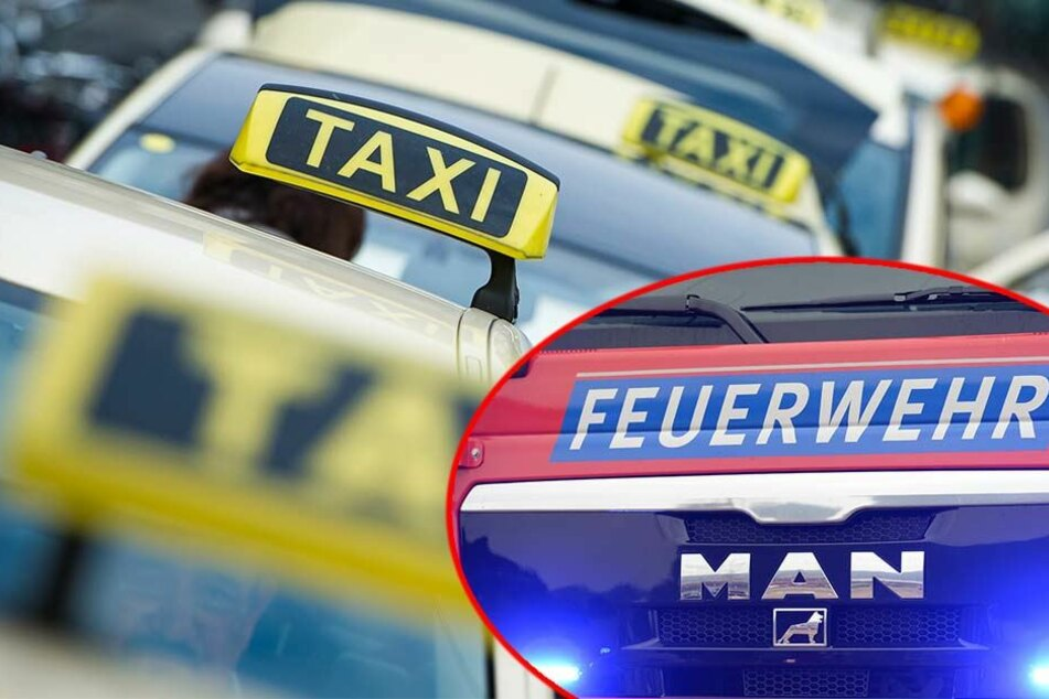 Am frühen Sonntagabend musste die Feuerwehr zur Uniklinik ausrücken, um ein brennendes Taxi zu löschen (Symbolbild).