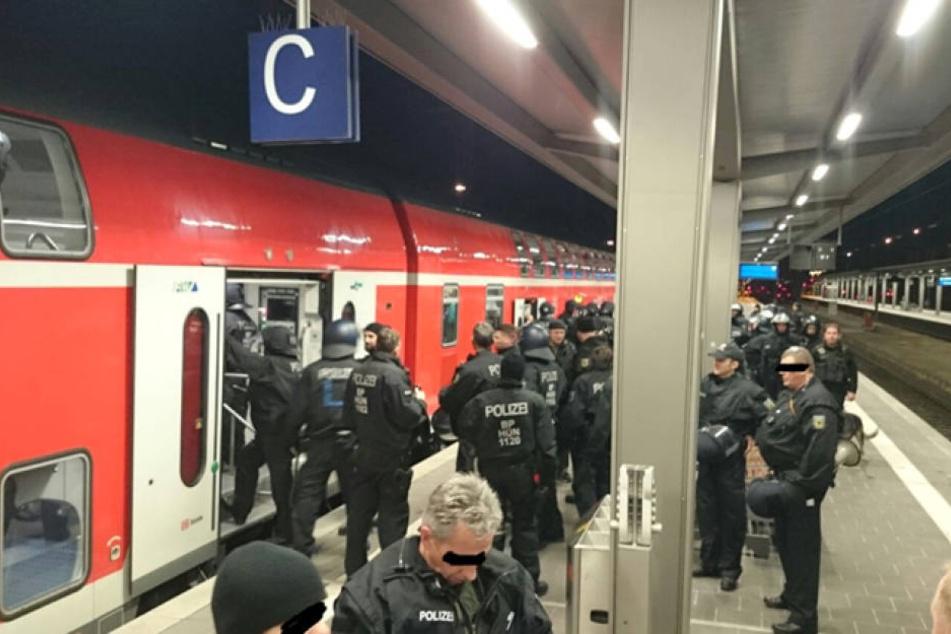 Bereits im vergangenen Jahr verabredeten sich Fans von Rostock und Frankfurt am Bahnhof Frankfurt-Niederrad zu einer Prügelei.