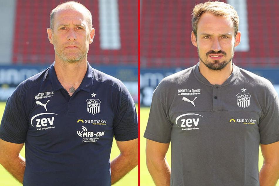 FSV-Coach Joe Enochs und Sportdirektor Toni Wachsmuth.
