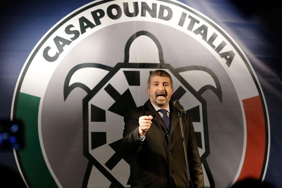 Simone Di Stefano, Vorsitzender der rechtsextremen Partei CasaPound Italia.