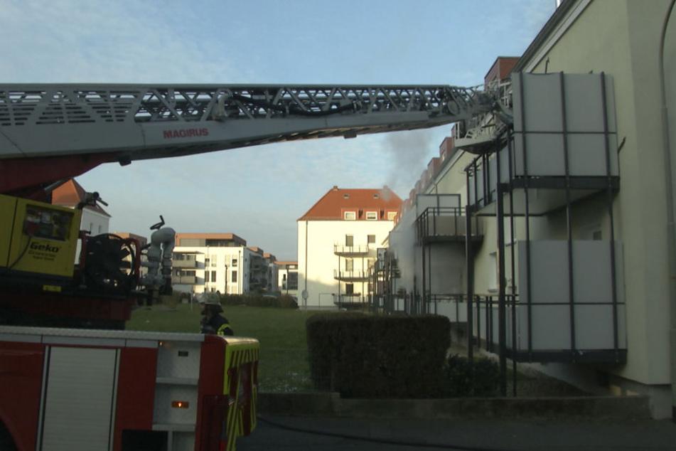 Die Wohnung im ersten Stock brannte komplett aus.