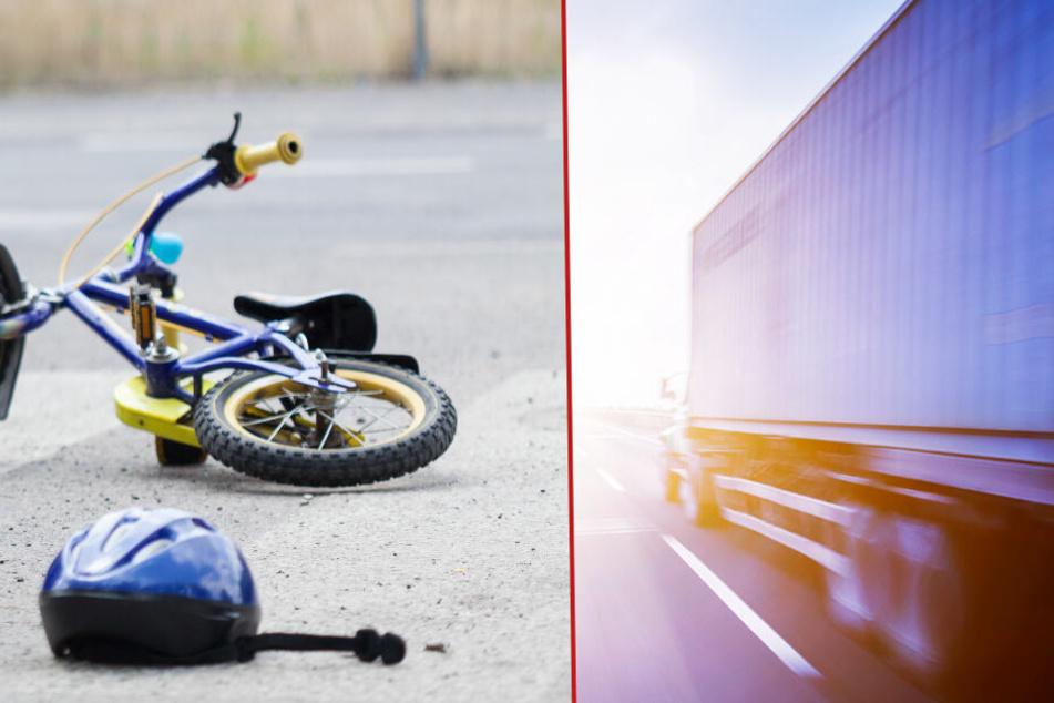 Wie das Einsatzlagezentrum der Polizei Brandenburg mitteilte, wollte der Lastwagen nach rechts abbiegen. (Symbolbild/Bildmontage)