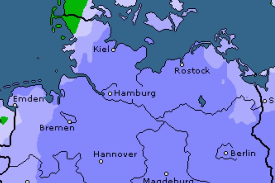Am Wochenende strömt kalte Luft aus nordöstlicher Richtung zu uns.