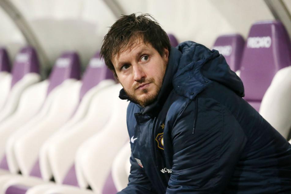 Aue-Coach Hannes Drews ist erleichtert.