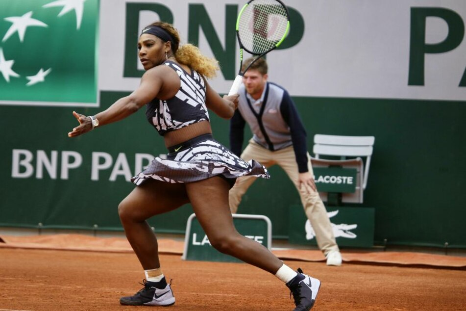 Serena Williams (37) in ihrem diesjährigen French-Open-Outfit.