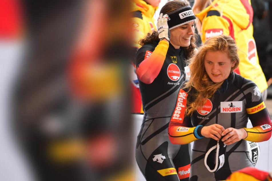 Stephanie Schneider (M.) sah nach dem zweiten Lauf nicht wirklich aus.