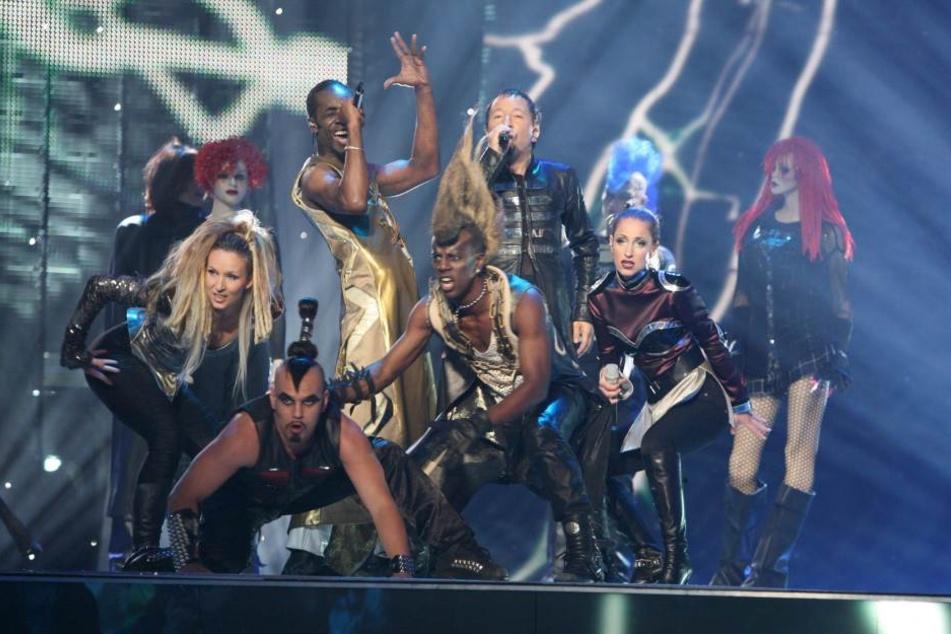 DJ Bobo (Mitte) in Helsinki  bei den Proben für das Halbfinale des Eurovision Song Contest. (Archivbild)