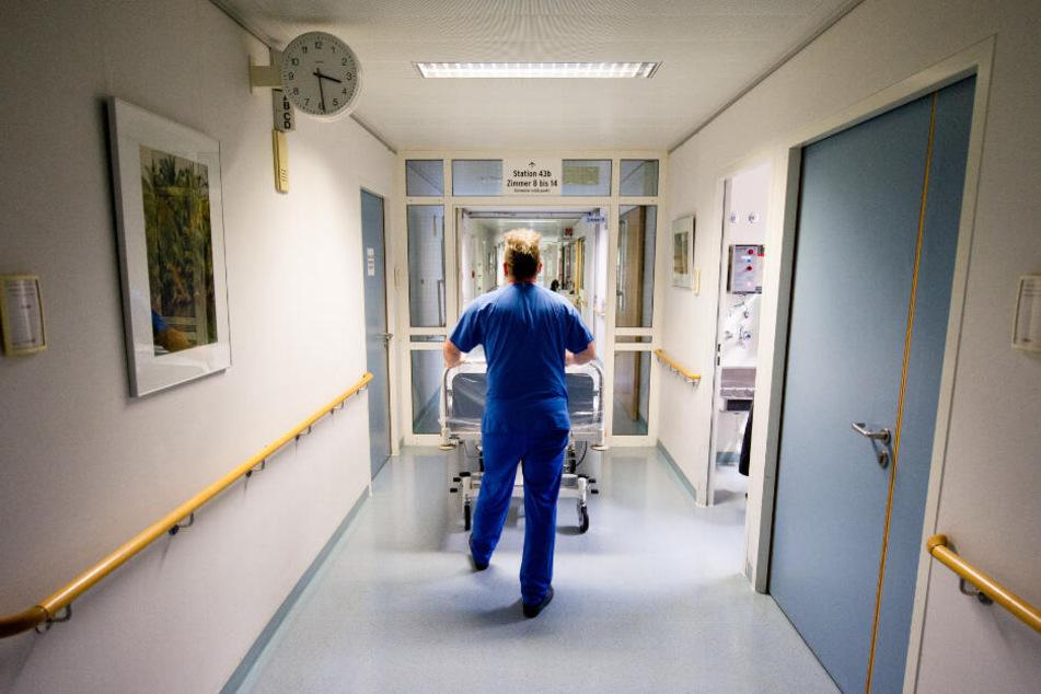 Baustelle Krankenhaus: Die sächsische Krankenhausgesellschaft sieht viele Baustellen an Sachsens Kliniken.