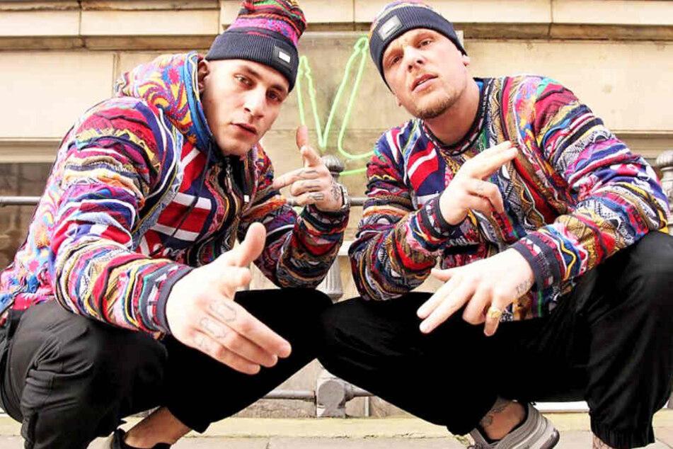Rapper Gzuz (l) zusammen mit Bonez MC.