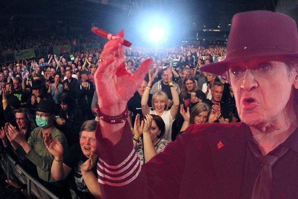 8000 Fans am Start! Udo Lindenberg rockt Chemnitz