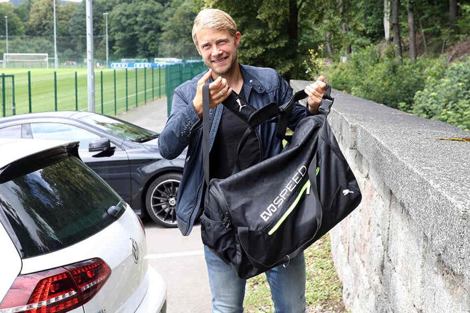 164 Spiele hat Jan Hochscheidt bisher für Aue bestritten, 26 Tore geschossen. Ab August sollen etliche dazukommen. Er hat bis 2021 unterschrieben.