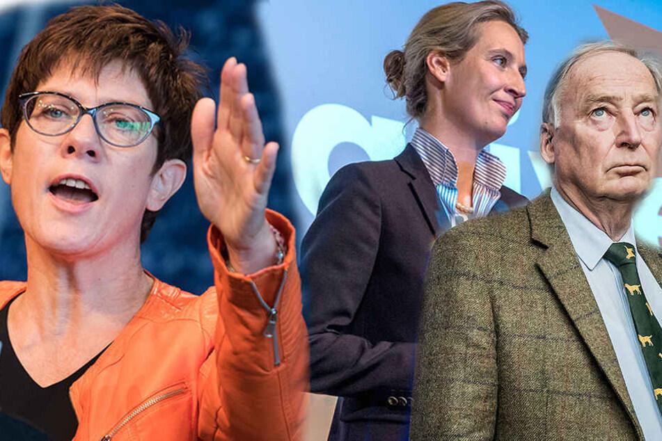 Die saarländische Ministerpräsidentin Annegret Kramp-Karrenbauer (55) findet, dass SPD und Linke eine Verantwortung für den AfD-Erfolg haben.