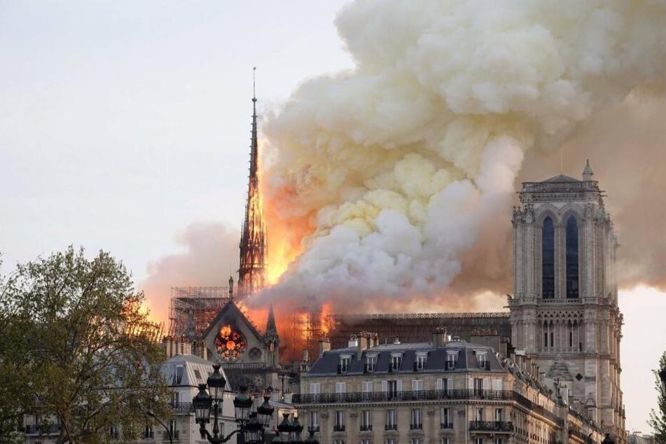 Am Montag brannte die Kathedrale Notre-Dame.