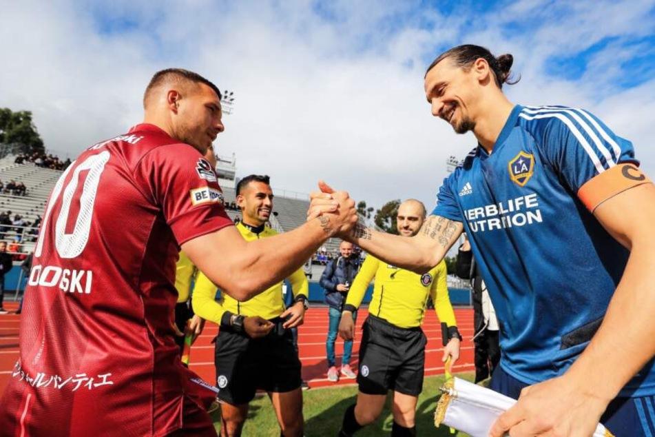 Lukas Podolski verliert Duell mit Ibrahimovic deutlich