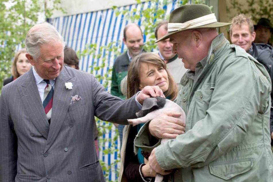 Seit seinem ersten Besuch 1962 soll Charles mehr als 30 Mal in Deutschland gewesen sein. Hier zu sehen: Der britische Thronfolger bei einem Besuch in Baden-Württemberg 2013.