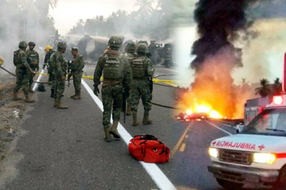 Tanklaster stößt mit Bus zusammen und explodiert: 24 Menschen sterben
