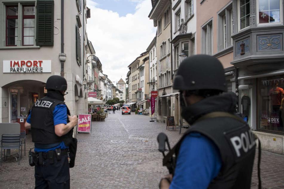In der Innenstadt von Schaffhausen griff der Mann mehrere Menschen an.